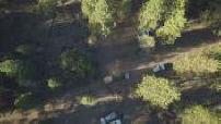 Aerial view of cannabis plantation in California