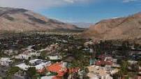 Vue aérienne de San Gorgino Pass près de Palm Springs