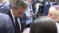 Nicolas Sarkozy signing session