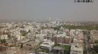 Vue aérienne par drone de Jaipur