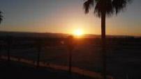 Vue aérienne du soleil se levant sur Palm Springs