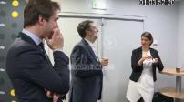 Plans de coupe et interview Marlène Schiappa à France Info