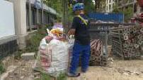 Recyclage de déchets d'un chantier