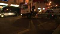 Attentat de Charlie Hebdo : enlèvement voiture de police visée par les frères Kouachi après l'attentat de la rue Nicolas-Appert