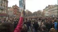 Manifestation en province pour manifester contre la violence terroriste