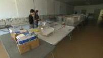 Polling station preparing for the Coronavirus