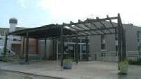 Coronavirus: exterior of Les Terrasses de l'Ibie nursing home in Villeneuve de Berg