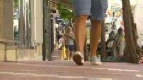 Street scenes of Monaco during its deconfinement