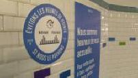 Deconfinement: stickers on metro platforms to enforce barrier gestures