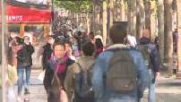 Coronavirus / Deconfinement: street scenes on the Champs Elysées in Paris