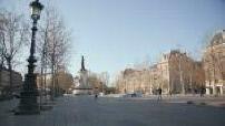 Place de la République, Paris, deserted