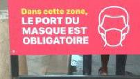 Coronavirus: compulsory mask wearing rue Sainte Catherine in Bordeaux
