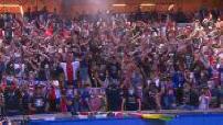 Champions League / Final : atmosphere at the Parc des Princes, overflowing onto the Champs Elysées.