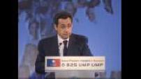 UMP Congress: end of Nicolas SARKOZY's speech and reactions