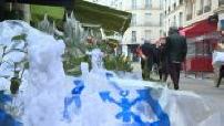 Covid-19 / Lockdown : Christmas atmosphere in Paris