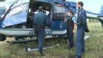 Gendarmerie control from helicopter near Avignon