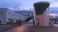 Coronavirus: Compiègne hospital exterior (at night)