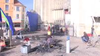 """Tournage du film sur """"Notre Dame brûle"""" de JJ Annaud 2/2"""