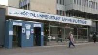 Outside Pitié-Salpétrière Hospital