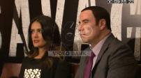 Savages : conférence de presse de Salma Hayek, Oliver Stone et John Travolta à Paris