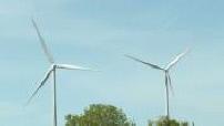 Ecologie : parc éolien terrestre à Echauffour, ITW Barbara Pompili