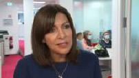 Debate Hidalgo - Chasseray at RTL : Hidalgo in the premises and interview