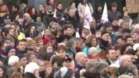 Manifestation contre les explusions pour la construction de l'aéroport de Notre Dame des Landes