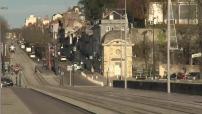 Tramway et train régional à Tours