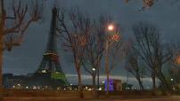 Cop21: Inauguration de l'opération 1 Heart 1 Tree : des arbres virtuels sur la Tour Eiffel