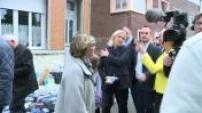Marine Le Pen on the market Hénin Beaumont