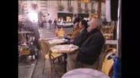 "Turning ""actors"" on a café terrace"