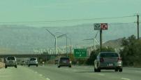 Ferme d'éoliennes à San Gorgonio, en Californie
