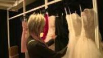 wedding dresses start to color: wedding fair Porte de Versailles