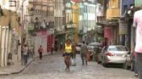 Illustration rue à salvador de Bahia au Brésil