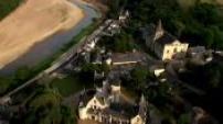 Vues Aériennes lieu région pays de la loire chateau de cunault