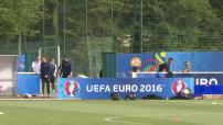 Euro 2016 : illustrations de l'entraînement de l'Equipe de France à Clairefontaine-en-Yvelines