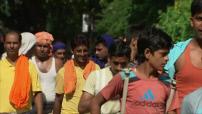 Illustrations et carte postale de scène de rue en Inde