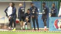 Euro 2016 : entraînement de l'équipe de France à Clairefontaine