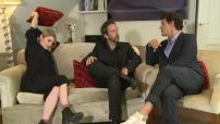 """Musique : interview de Marc Lavoine, Béatrice Martin et Arthur H pour la promotion du conte musical """"Les souliers rouges"""" à Paris"""
