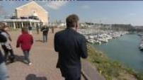 Bayrou campaign meeting in Granville fishermen