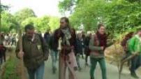 nouvelle manifestation contre l'implantation d'un aéroport à Notre Dame des Landes