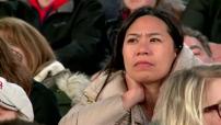 Election présidentielle américaine: réactions sur Times Square