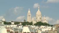 Illustrations de la ville de Paris (jour / nuit) - basilique du Sacré Coeur et tour Eiffel