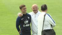 Entraînement de l'Equipe de France de Football en Autriche avant le lancement de l'Euro 2016