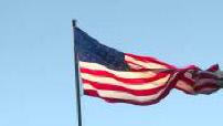 Belles images de drapeau américain flottant au vent