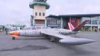 Fouga CM-170 magister sur tarmac