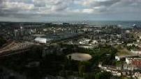 Vue d'ensemble de Cherbourg depuis la montagne du Roule