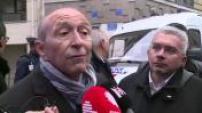 Présidentielle 2017 : départ de Gérard Collomb du QG d'En Marche