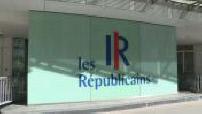 Extérieur du siège des Républicains et sortie de Brice Hortefeux