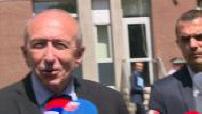 Gérard Collomb en déplacement à Calais pour promettre un plan pour l'accueil des migants